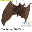 Fledermaus 2er-Set  aus Latex, 50cmx35cm