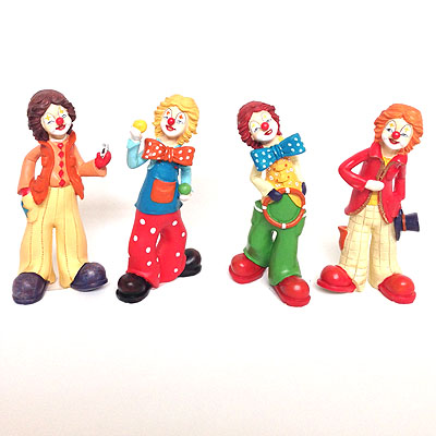 Clown stehend, ca. 18cm, 4er Set