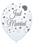 Luftballon, Just Married, 8er Pack, ca. 30 cm