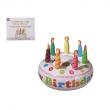 Aufblasbare Torte, Happy Birthday, Ø- ca. 27cm,