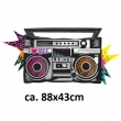 Folienballon Boombox Totally 80´s P35 ca. 88x43 cm