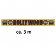 Glitzerbanner Hollywood ca. 3 m gold