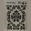 Wandtattoo 2er Set Ornament, ca. 69x48cm, schwarz