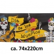 Banner Skelett, Day of the dead, ca. 74x220cm, bunt