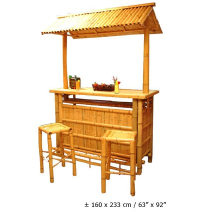 Bambus Bar Mit Dach Ca160x223cm